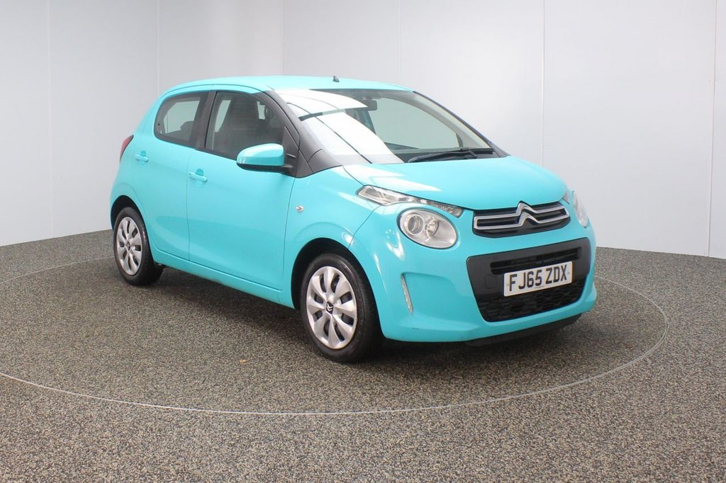 USED 2015 65 CITROEN C1 1.0 FEEL 5DR 1 OWNER 68 BHP FULL SERVICE HISTORY + FREE 12 MONTHS ROAD TAX + BLUETOOTH + DAB RADIO + AIR CONDITIONING + MULTI FUNCTION WHEEL + ELECTRIC WINDOWS + ELECTRIC MIRRORS