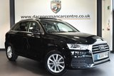 """USED 2016 65 AUDI Q3 2.0 TDI SE 5DR 148 BHP full audi service history Finished in a stunning black styled with17""""  alloys. Upon opening the drivers door you are presented with full black leather interior, full audi service history, satellite navigation, panoramic roof, bluetooth, dab radio, sport seats, heated mirrors, climate control, drive select, auto stop/start, parking sensors"""