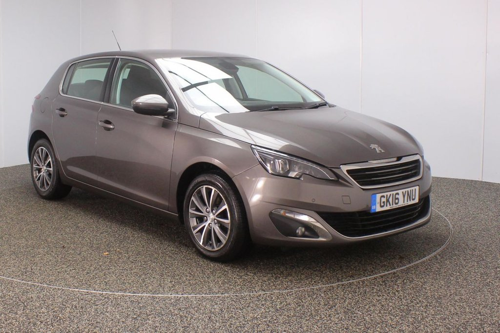 USED 2016 16 PEUGEOT 308 1.6 BLUE HDI S/S ALLURE 5DR SAT NAV 1 OWNER 120 BHP FULL SERVICE HISTORY + FREE 12 MONTHS ROAD TAX + SATELLITE NAVIGATION + PARKING SENSOR + BLUETOOTH + CLIMATE CONTROL + MULTI FUNCTION WHEEL + DAB RADIO + XENON HEADLIGHTS + ELECTRIC WINDOWS + ELECTRIC MIRRORS + 16 INCH ALLOY WHEELS