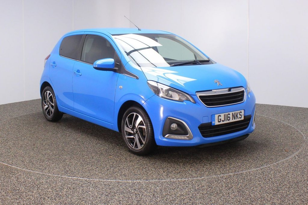 USED 2016 16 PEUGEOT 108 1.2 PURETECH ALLURE 5DR 1 OWNER 82 BHP SERVICE HISTORY + FREE 12 MONTHS ROAD TAX + REVERSE CAMERA + BLUETOOTH + CRUISE CONTROL + AIR CONDITIONING + MULTI FUNCTION WHEEL + DAB RADIO + XENON HEADLIGHTS + PRIVACY GLASS + RADIO/AUX/USB + ELECTRIC WINDOWS + ELECTRIC MIRRORS + 15 INCH ALLOY WHEELS