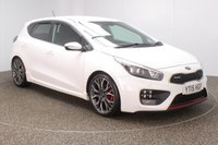 USED 2015 15 KIA CEED 1.6 GT TECH 5DR SAT NAV HEATED HALF LEATHER SEATS 201 BHP SERVICE HISTORY + HEATED HALF LEATHER SEATS + SATELLITE NAVIGATION + REVERSE CAMERA + PARKING SENSOR + HEATED STEERING WHEEL + BLUETOOTH + CRUISE CONTROL + CLIMATE CONTROL + MULTI FUNCTION WHEEL + PRIVACY GLASS + XENON HEADLIGHTS + RADIO/CD/AUX/USB + ELECTRIC WINDOWS + ELECTRIC MIRRORS + 18 INCH ALLOY WHEELS