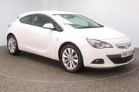 USED 2013 63 VAUXHALL ASTRA 1.4 GTC SRI 3DR AUTO HALF LEATHER SEATS 138 BHP SERVICE HISTORY + HALF LEATHER SEATS + PARKING SENSOR + CRUISE CONTROL + AIR CONDITIONING + MULTI FUNCTION WHEEL + DAB RADIO + XENON HEADLIGHTS + PRIVACY GLASS + ELECTRIC WINDOWS + RADIO/CD/AUX/USB + ELECTRIC MIRRORS + 18 INCH ALLOY WHEELS