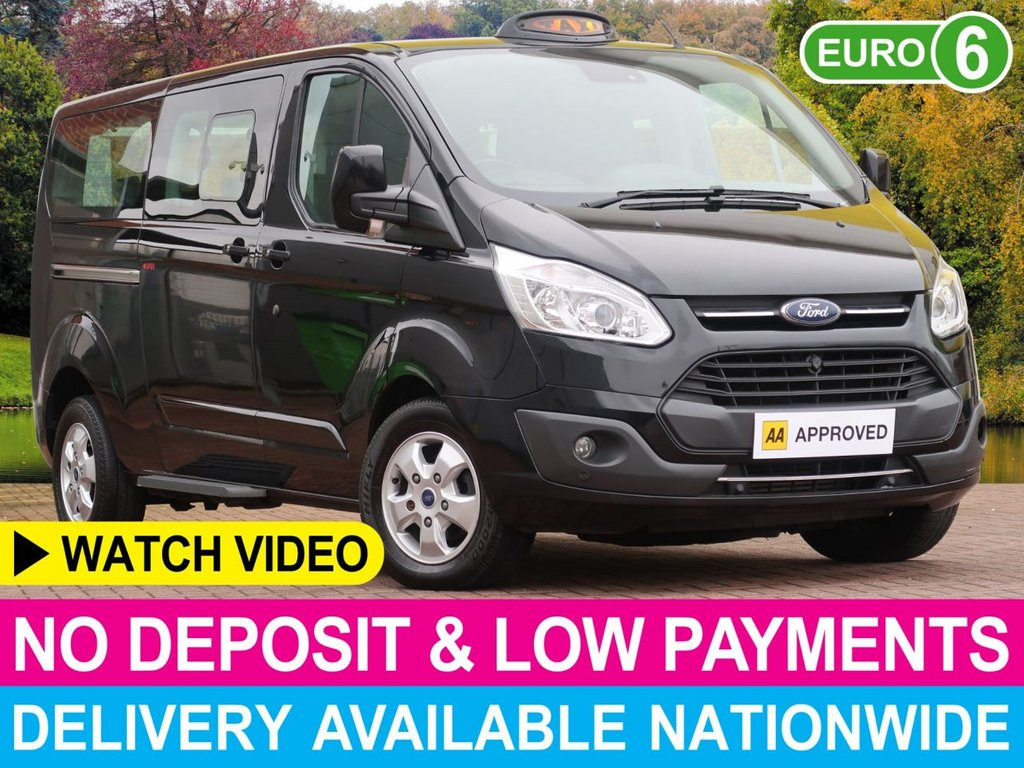 USED 2017 66 FORD TOURNEO CUSTOM 2.0 TDCI TITANIUM HACKNEY BLACK CAB TAXI INBUILT DISABLED ACCESS RAMP