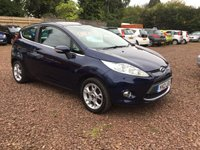 USED 2012 12 FORD FIESTA 1.4 ZETEC 16V 3d 96 BHP LADY OWNER  LOW MILEAGE EXAMPLE IN SUPERB CONDITION