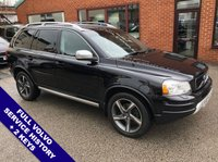 "USED 2013 63 VOLVO XC90 2.4 D5 R-DESIGN NAV AWD 5DOOR AUTO 200 BHP Family 7-Seater   :   Satellite Navigation   :   AUX Socket   :   Cruise Control       Phone Bluetooth Connectivity   :   Climate Control / Air Conditioning   :   Heated Front Seats       Electric Driver Seat   :   Full Black Leather Upholstery   :   Front & Rear Parking Sensors       19"" Alloy Wheels   :   Full Volvo Service History"