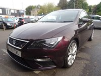 USED 2017 17 SEAT LEON 1.4 ECOTSI FR TECHNOLOGY 3d 150 BHP Nav,Media,Cruise,Mirror-Link