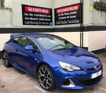 2017 VAUXHALL ASTRA ASTRA GTC VXR 2.0T 16V 280 BHP, AERO PACK, 1 OWNER £15950.00