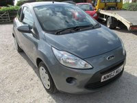 USED 2013 62 FORD KA 1.2 EDGE 3d 69 BHP LOW MILES LOW TAX LOW INSURANCE 30 POUNDS ROAD TAX