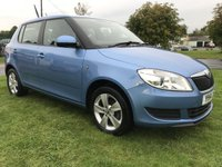 USED 2014 14 SKODA FABIA 1.2 SE 5 DOOR 34000 MILES FSH 2 OWNERS DENIM BLUE METALLIC