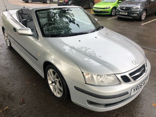 USED 2006 06 SAAB 9-3 2.0 VECTOR T 2d 175 BHP CONVERTIBLE SAAB 9-3 2.0 T . GOOD CLEAN CAR THROUGHOUT . VERY WELL MENTAINED WITH EXCELLENT / FULL SERVICE HISTORY , LOTS OF RECEIPTS FOR WORK CARRIED OUT AND OLD MOT CERTIFICATES ETC . CD player - FULL LEATHER INTERIOR - ELECTRIC POWER HOOD - ALLOY WHEELS - MOT UNTIL SEPT 2020 . FOR MORE INFORMATION OR TO RESERVE / ARRANGE A VIEWING PLEASE CALL OUR FRIENDLY SALES TEAM ON  01332 482800 AND THEY WILL BE HAPPY TO HELP .