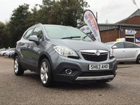 USED 2014 63 VAUXHALL MOKKA 1.7 TECH LINE CDTI S/S 5d 128 BHP NAVIGATION SYSTEM + BLUETOOTH + PRIVACY GLASS * SERVICE RECORD * PARKING AID * MINIMUM 6 MONTHS MOT *