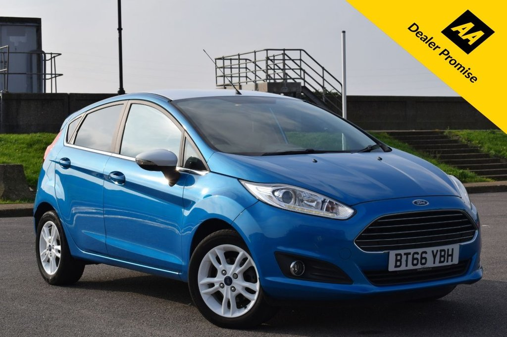 USED 2016 66 FORD FIESTA 1.0 ZETEC BLUE EDITION SPRING 5d 99 BHP