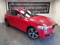 USED 2014 14 BMW 1 SERIES 2.0 120D SPORT 5d 181 BHP + SAT NAV + 2 KEYS + 1 FORMER KEEPER