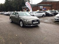 USED 2013 13 AUDI A6 2.0 TDI SE 4d AUTO 175 BHP NAVIGATION SYSTEM +   BLUETOOTH +  FULL LEATHER +   PARKING AID *  FULL YEAR  MOT +  2 KEEPERS +