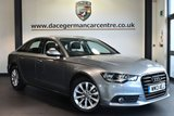 """USED 2013 13 AUDI A6 2.0 TDI SE 4DR 175 BHP Finished in a stunning grey styled with17""""  alloys. Upon opening the drivers door you are presented with full leather interior, bluetooth, cruise control, multi functional steering wheel, heated mirrors, parking sensors"""