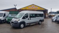 USED 2015 65 PEUGEOT BOXER 2.2 HDI 440 L4H2 W/V 130 BHP 17 SEATER + CHAIR ACCESS  (((( LOTS MORE VANS IN STOCK OVER 100 ON SITE )))