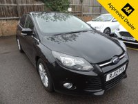 2012 FORD FOCUS 1.6 TITANIUM 5d AUTO 124 BHP IN METALLIC BLACK WITH ONLY 37000 MILES, FULL SERVICE HISTORY, 2 OWNERS, GREAT SPEC AND IS ULEZ COMPLIANT £6499.00