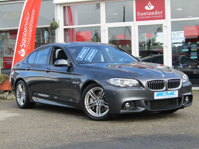 USED 2016 66 BMW 5 SERIES 3.0 530D M SPORT 4d AUTO 255 BHP STUNNING , 1 OWNER, BMW 5 SERIES 530D M-SPORT AUTO 255 BHP. Finished in MINERAL GREY METALLIC with contrasting Heated Electric EBONY SEATS. This 5 Series offers a great mix of practicality, efficiency, comfort and techy features than almost any other saloon on the market today. Features include Sat Nav, DAB radio, B/Tooth, Heated Leather seats and much more. Dealer serviced at 18661 miles, 38994 miles, 59255 miles and recently on 13.8.2019 at 68630 miles.