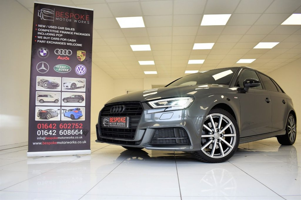 USED 2017 66 AUDI A3 2.0 TFSI BLACK EDITION 5 DOOR S-TRONIC