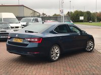 USED 2016 66 SKODA SUPERB 1.4 SE L EXECUTIVE TSI DSG AUTO PETROL BLUE MET. BLACK LEATHER 148 BHP SUPERB SPEC INC FULL LEATHER HEATED FRONT SEATS SAT NAV WITH TOUCH SCREEN DISPLAY