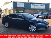 2016 SKODA SUPERB 1.4 SE L EXECUTIVE TSI DSG AUTO PETROL BLUE MET. BLACK LEATHER 148 BHP £15995.00