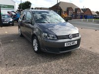 USED 2012 12 VOLKSWAGEN TOURAN 1.6 SE TDI DSG 5d AUTO 106 BHP 1 OWNER-AUTOMATIC-7 SEATER-FULL MAIN DEALER HISTORY-BLUETOOTH