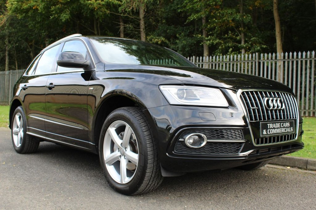 USED 2013 13 AUDI Q5 2.0 TDI QUATTRO S LINE 5d AUTO 175 BHP ONLY ONE PREVIOUS OWNER AND FULL AUDI DEALER SERVICE HISTORY!!!