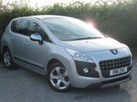 USED 2011 11 PEUGEOT 3008 1.6 EXCLUSIVE HDI 5d AUTOMATIC * SUNROOF * AUTOMATIC * 12 MONTHS AA MEMBERSHIP *