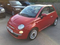 USED 2013 13 FIAT 500 1.2 LOUNGE 3d 69 BHP ONE OWNER PANROOF ALLOYS MOT 08/20 RED WITH RED CLOTH TRIM. SUNROOF. 15 INCH ALLOYS. COLOUR CODED TRIMS. AIR CON. R/CD PLAYER. MOT 06/20. FULL SERVICE HISTORY. AGE/MILEAGE RELATED SALE. P/X CLEARANCE CENTRE LS23 7FQ. TEL 01937 849492 OPTION 3