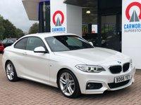 USED 2017 66 BMW 2 SERIES 2.0 218D M SPORT 2d 148 BHP 3540.00 BMW OPTIONAL EXTRAS