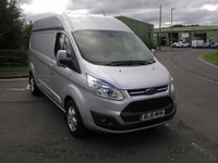 USED 2016 16 FORD TRANSIT CUSTOM 2.2 310 LIMITED 124 BHP L2H2 VAN Only 24000 miles, Air Con, Onboard 230v Socket
