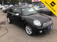 2012 MINI HATCH COOPER 1.6 COOPER 3d 122 BHP IN METALLIC BLACK WITH ONLY 7500 MILES, 1 OWNER, FULL DEALERSHIP HISTORY, GREAT SPEC AND IS ULEZ COMPLIANT £7499.00