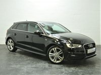 USED 2013 63 AUDI A3 1.6 TDI S LINE 5d 104 BHP FULL LEATHER + FULL HISTORY + 1 OWNER + BLUETOOTH