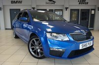 USED 2016 16 SKODA OCTAVIA 2.0 VRS TDI DSG 5d AUTO 181 BHP 1 OWNER FINISHED IN A STUNNING METALLIC BLUE WITH VRS EMBOSSED HALF LEATHER UPHOLSTERY + STUNNING TWO TONE DIAMOND CUT ALLOY WHEELS + 1 OWNER FROM NEW WITH A GOOD SERVICE HISTORY + SATELLITE NAVIGATION + DAB DIGITAL RADIO + BLUETOOTH + AIR CONDITIONING + 2 WAY DUAL CLIMATE CONTROL + PARKING SENSORS + AUX/USB + CRUISE CONTROL + MULTIFUNCTION STEERING WHEEL + FRONT AND REAR FOGLIGHTS + AUTOMATIC HEADLIGHTS