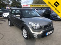 2013 KIA SOUL 1.6 2 CRDI 5d AUTO 126 BHP IN METALLIC SILVER WITH ONLY 1 OWNER, FULL SERVICE HISTORY AND A GREAT SPEC. £5799.00