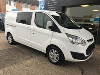 2014 FORD TRANSIT CUSTOM 2.2 290 LIMITED L2 CREW CAB DOUBLE CAB 155 BHP - 6seater NO VAT £12795.00