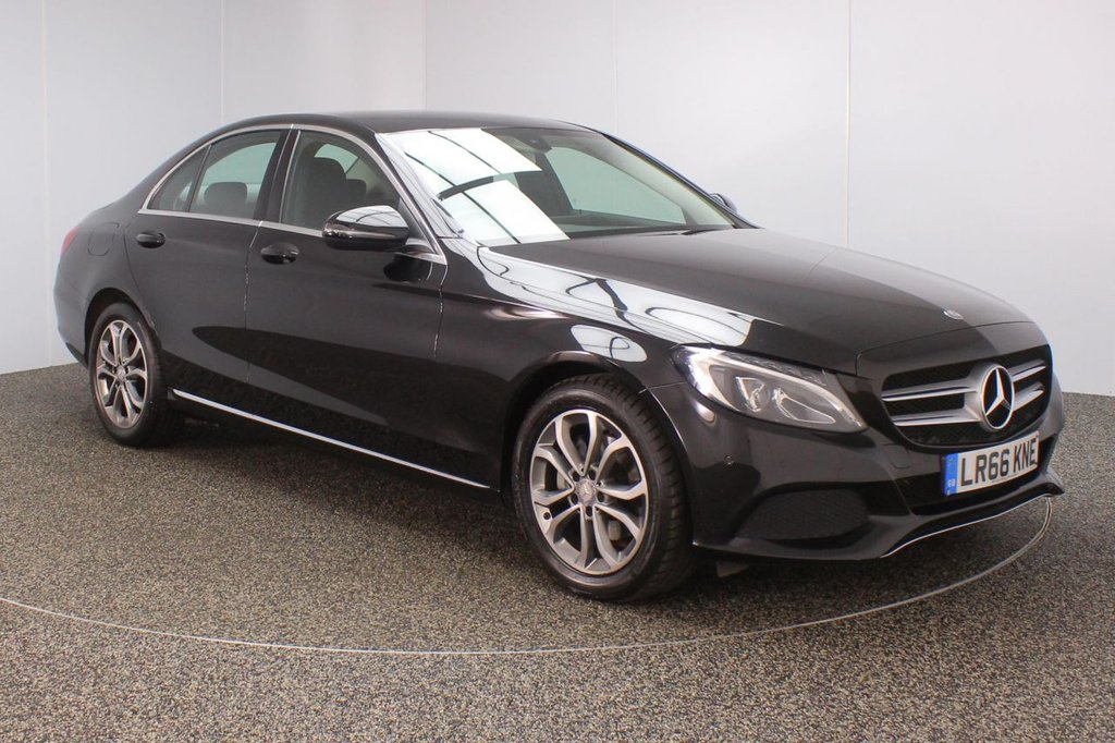 USED 2016 66 MERCEDES-BENZ C CLASS 2.1 C220 D SPORT SAT NAV HEATED LEATHER SEATS 1 OWNER 4DR 170 BHP FULL SERVICE HISTORY + £20 12 MONTHS ROAD TAX + HEATED LEATHER SEATS + SATELLITE NAVIGATION + REVERSE CAMERA + ACTIVE PARK ASSIST + PARKING SENSOR + BLUETOOTH + CRUISE CONTROL + CLIMATE CONTROL + MULTI FUNCTION WHEEL + DAB RADIO + XENON HEADLIGHTS + ELECTRIC SEATS + ELECTRIC WINDOWS + ELECTRIC MIRRORS + 17 INCH ALLOY WHEELS