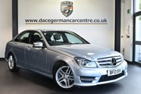 """USED 2013 13 MERCEDES-BENZ C CLASS 2.1 C250 CDI BLUEEFFICIENCY AMG SPORT 4DR 202 BHP full mercedes service history Finished in a stunning diamond metallic silver styled with17"""" alloys. Upon opening the drivers door you are presented with half black leather interior, full mercedes service history, satellite navigation, bluetooth, cruise control, parking sensors, AMG sport package, rain sensors, multi functional steering wheel, electric folding mirrors, AMG styling package"""