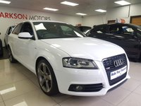 USED 2011 S AUDI A3 2.0 TDI S LINE BLACK EDITION+LEATHER CLIMATE+ROTOR ALLOYS+FLAT BOTTOM STEERING+FOGS+