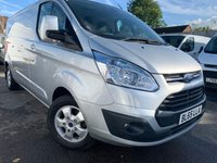USED 2015 65 FORD TRANSIT CUSTOM 2.2 290 LIMITED LR 124 BHP LWB TOP SPEC VAN JUST 29K FSH !!!!