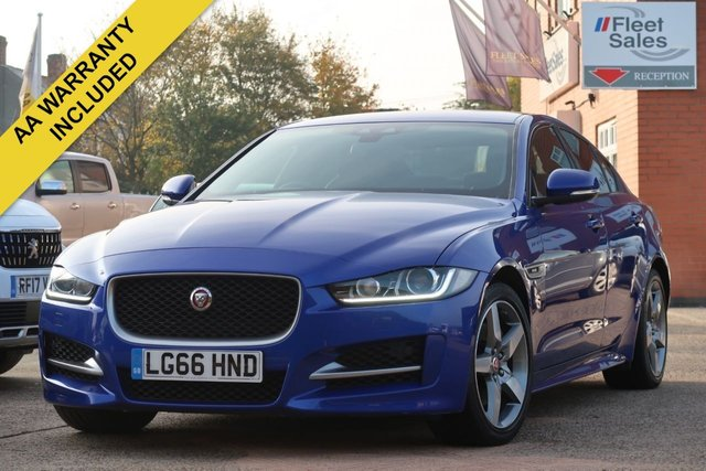 USED 2016 66 JAGUAR XE 2.0 R-SPORT 4d 178 BHP FULL JAGUAR SERVICE HISTORY, FULL BLACK LEATHER INTERIOR, FRONT HEATED SEATS