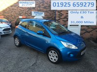 USED 2011 61 FORD KA 1.2 EDGE 3d 69 BHP Only £30 Road Tax & 31,000 Miles, 12 Mths Mot & Serviced on Delivery, Low Insurance Group !!!
