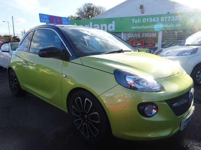 USED 2013 13 VAUXHALL ADAM 1.2 GLAM S/S 3d 69 BHP ** 01543 877320  ** JUST ARRIVED **
