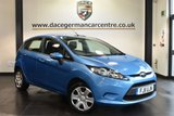 USED 2011 11 FORD FIESTA 1.4 EDGE TDCI 5DR  69 BHP full service history Finished in a stunning metallic blue Upon opening the drivers door you are presented with cloth upholstery, full service history, £20 road tax, multi functional steering wheel, immaculate condition, air conditioning, auxiliary port, electric mirrors