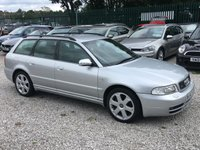 2000 AUDI A4 2.7 S4 AVANT QUATTRO 5d 262 BHP £9950.00