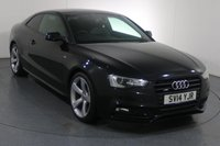 USED 2014 14 AUDI A5 2.0 TDI QUATTRO BLACK EDITION 2d 175 BHP 2 OWNERS From New