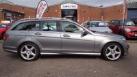 USED 2012 12 MERCEDES-BENZ C CLASS 2.1 C250 CDI BLUEEFFICIENCY SPORT 5d AUTO 202 BHP HALF LEATHER +   PARKING AID +  BLUETOOTH +   18 INCH ALLOYS +  1 PREVIOUS KEEPER +  FULL YEAR MOT +