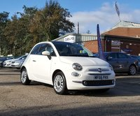 USED 2016 66 FIAT 500 1.2 LOUNGE DUALOGIC 3d AUTO 69 BHP REVERSE PARKING SENSORS  * SERVICE HISTORY * APPLE CAR PLAY / ANDROID AUTO * START/STOP SYSTEM