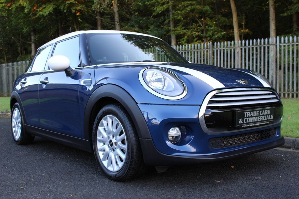 USED 2014 64 MINI HATCH COOPER 1.5 COOPER 5d 134 BHP A LOVELY LOW MILEAGE CAR WITH FULL BLACK LEATHER INTERIOR!!!
