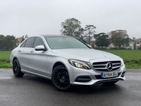 USED 2014 64 MERCEDES-BENZ C CLASS 2.0 C200 SPORT 4d AUTO 184 BHP LOVELY SPEC SPORT PACK WITH BLACK AMG SPORT ALLOYS SAT NAV REVERSING CAMERA FULL SERVICE HISTORY